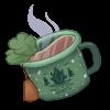 Commemorative Enamel Tea Cup